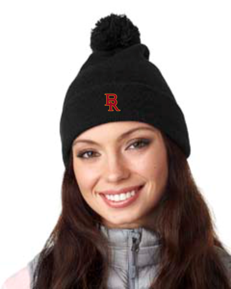 Pre-Order Ladies Black Beanie with Letter Embroidery — Wild Orchid e58ef2e63d9