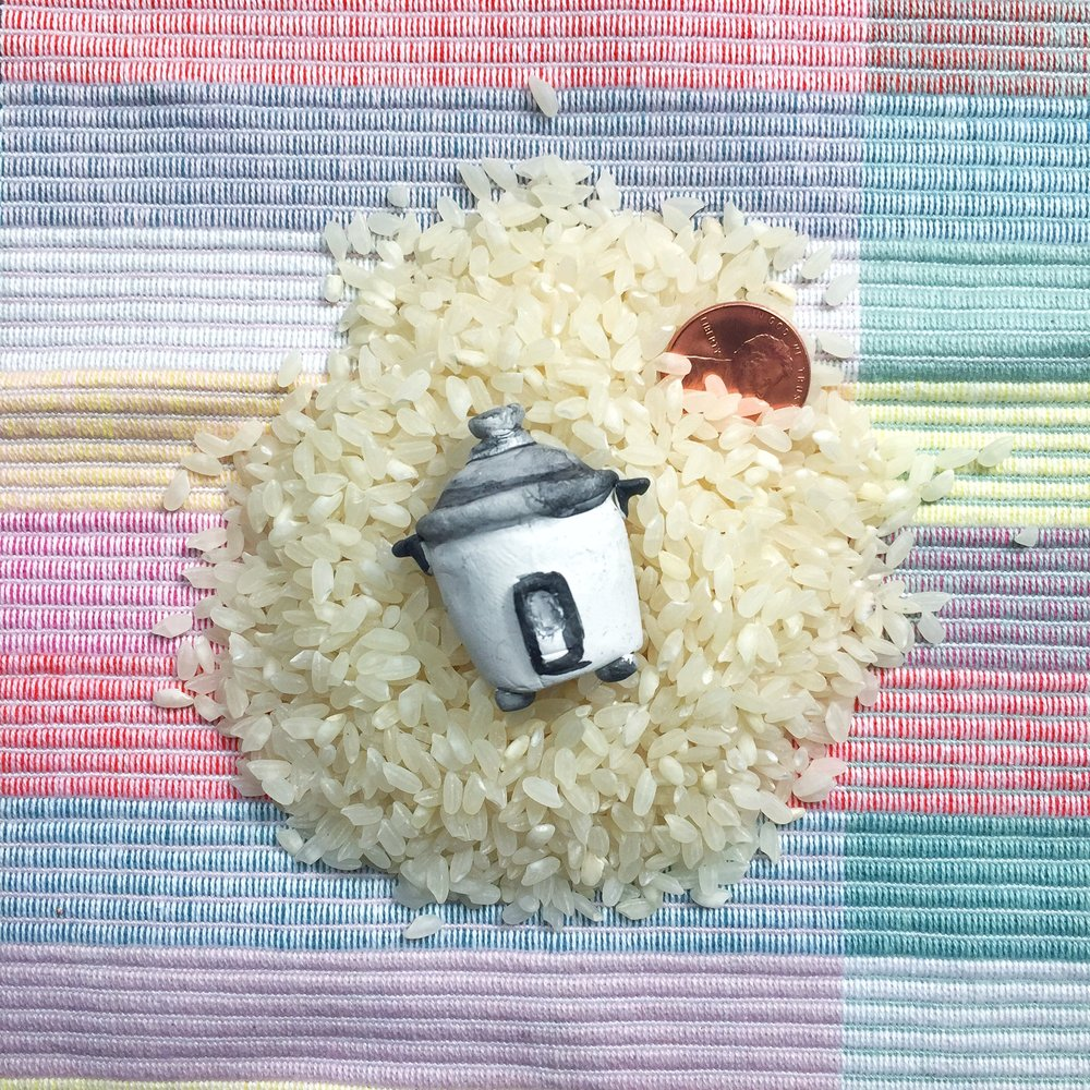 • NEW! • Mini Rice Cookers - Hand-sculpted clay, painted in Brooklyn, NY.