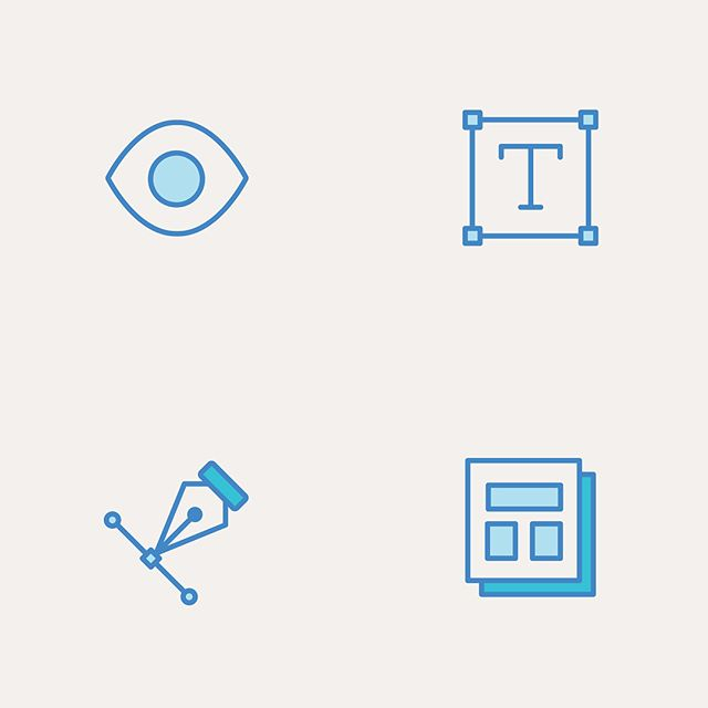 I recently made my hobbies and skillz into icons for a much needed revamp of my curriculum vitae 👩🏼💻 #resumedesign #iconography #illustrator #design