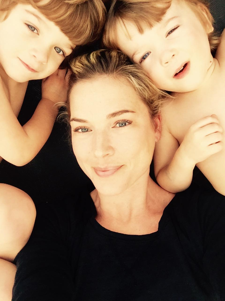 Designer Reagan Rowland with her twins Weston & Lane