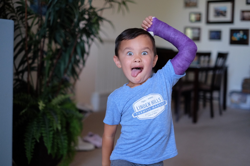"""Instagram Message: """"How's this for wearing purple today Auntie Barb?"""" Even 4 year old Colton knows - Lupus sucks. Wear your purple today to support World Lupus Day."""