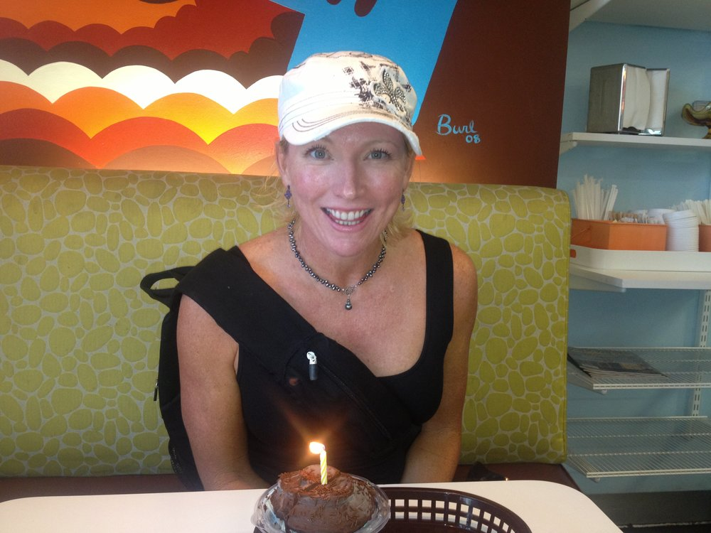 Even though our birthdays are almost 2 months apart, we always celebrate. Because of Kristin, all the friends would meet up at Baxters in Fullerton or ABC Club in Orange or Bobby McGee's in Brea when I came home for college breaks. Fun times with Fun Chik.