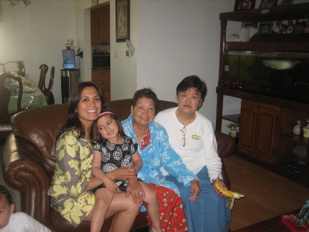 Instagram Message: Taken years ago of the four generations. Someday I'll be a Lola too.