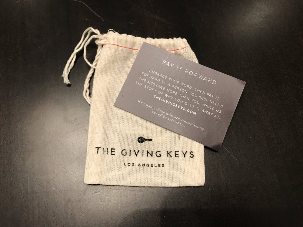 I kept the packaging of the INSPIRE bracelet that I received and passed on to Pia because I knew one day I would want to pay it forward  thoughtfully .  The Giving Keys .