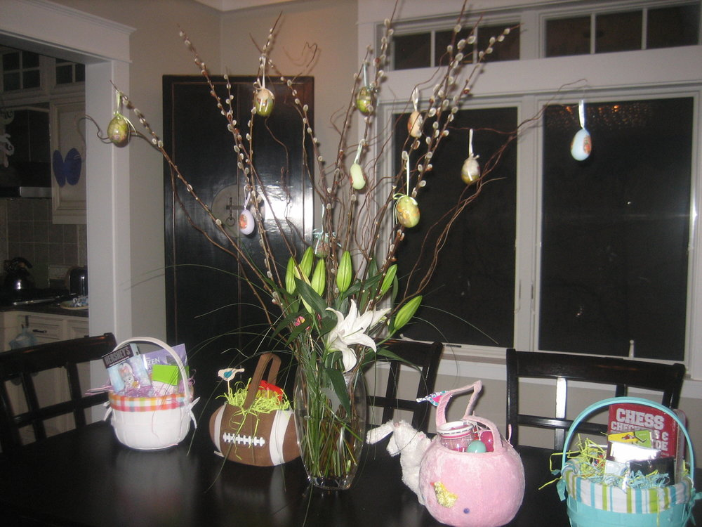 I may get a chance to put a flower arrangement together like I did a few years ago.