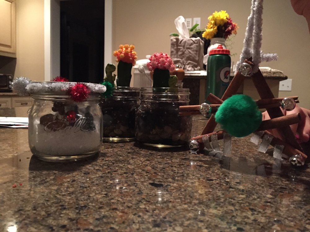 When my kids come home from a playdate at the Gartner's they bring home crafts. Ornaments, snow globes and Christmas cactus! OR she gets tickets to the U of M football games and invites my kids to come along. She'll bring the kids to free Wild hockey practices. She creates great memories for the kids.