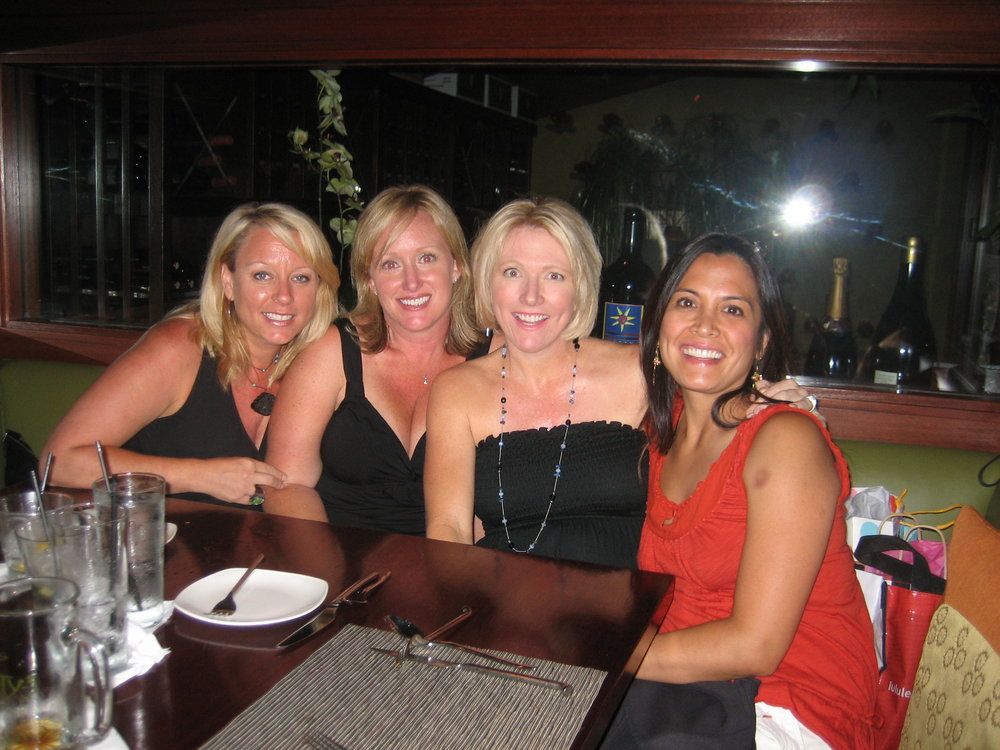 Taken many years ago, we have the Roomies. Kristin, next to me, I've known since I was ten!