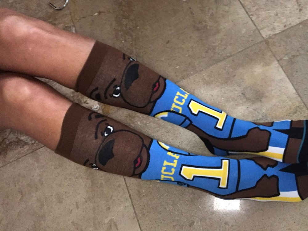 Santa gave these Stance socks to the Hub but I will wear these UCLA Bruin Bear socks on College Colors Day. Aren't they adorable?