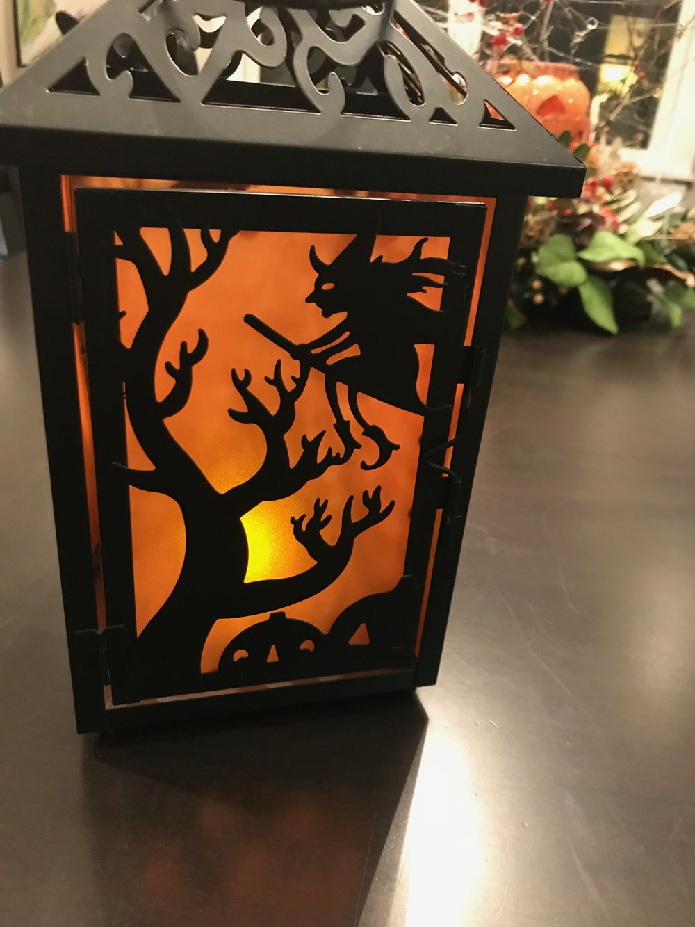 Our piano teacher gave us a Halloween lantern as a thank you for hosting a Halloween-themed piano recital at our house. On the bottom I wrote: Ms. Ruth. Piano Recital 2015.  It will be with us for years.