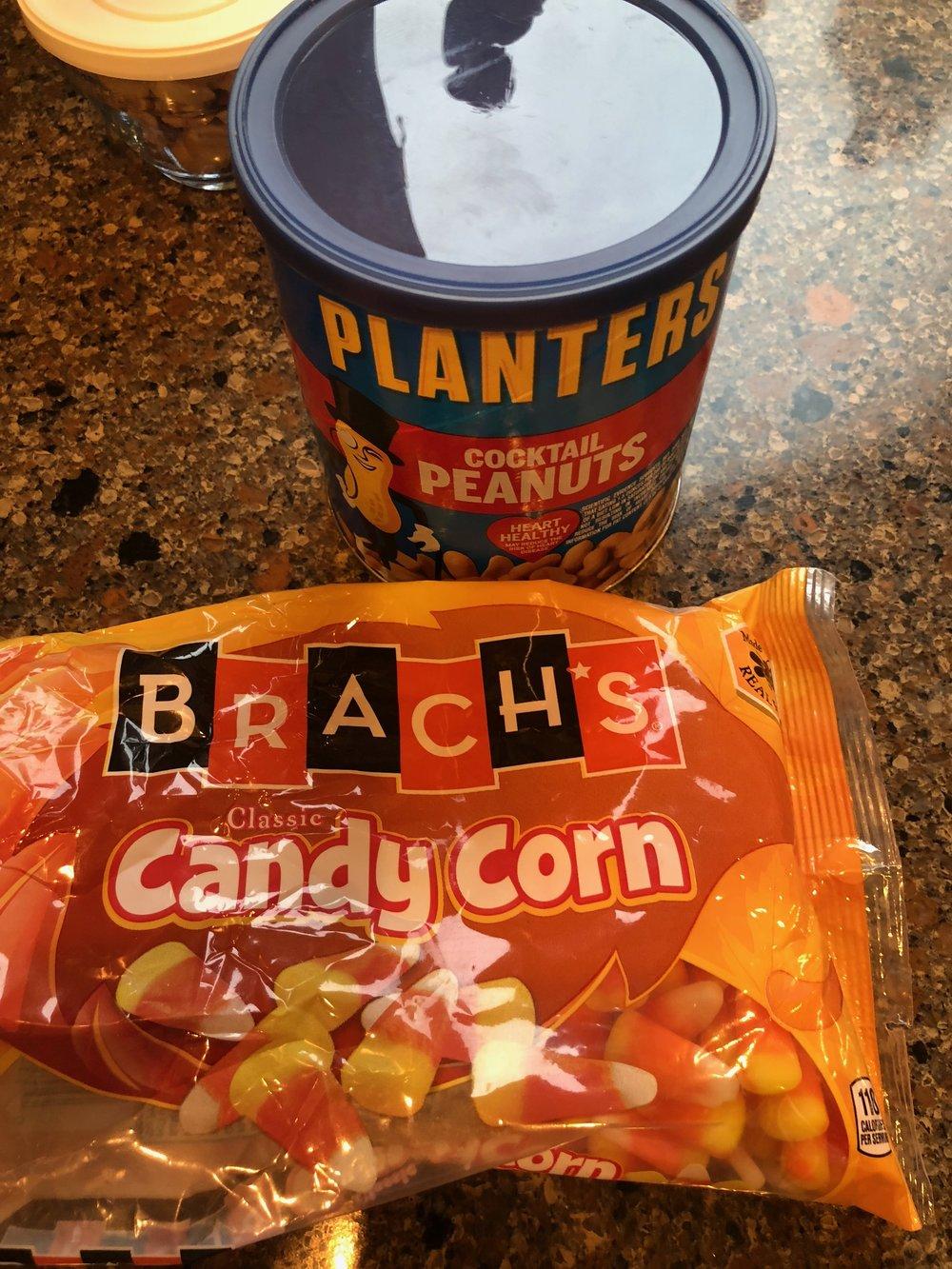 Peanuts + Candy Corn