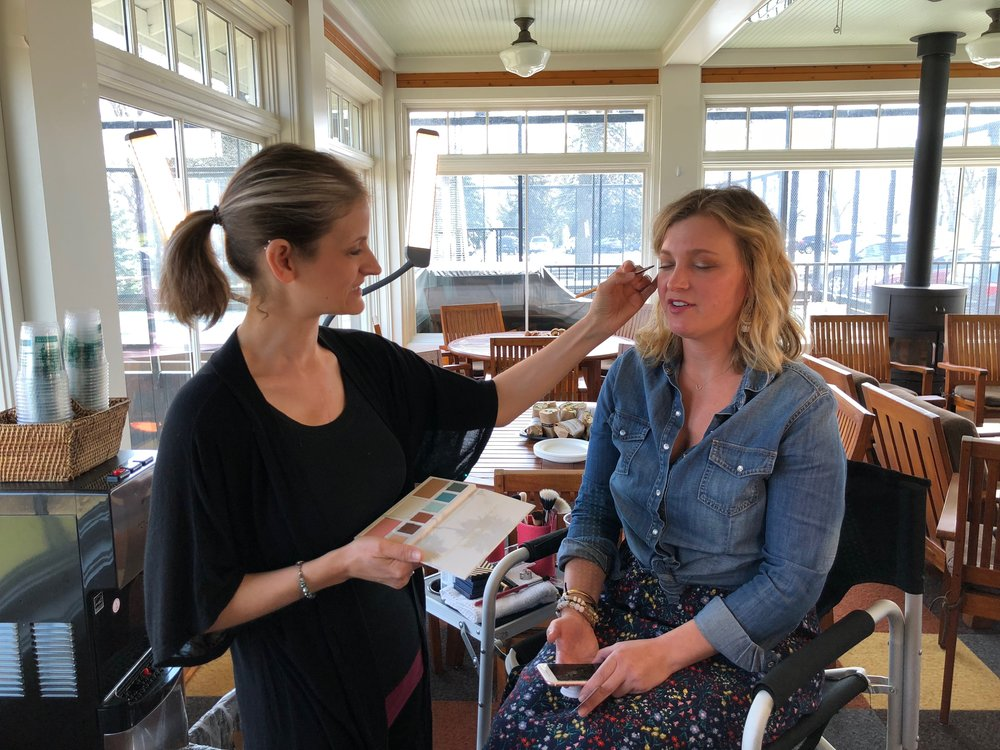Here's Wendy getting her complimentary make up session during the Beautycounter event I hosted with my friend Jan. I'm not sure how she has time, but she shows up to support me! I feel blessed.