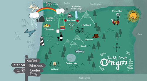 Simple Oregon Map