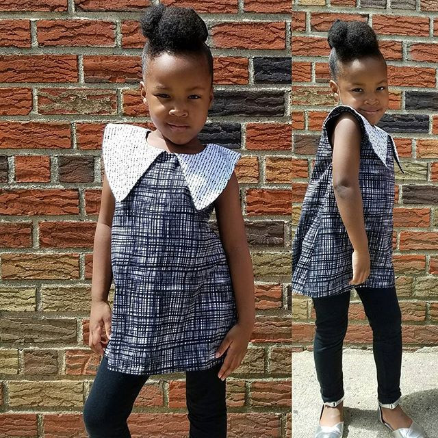 One of my all time favorite dresses. Made it a year ago so now it's a tunic. :-) love an outfit that can survive more than one summer!! #ootd #handmade #collar #blackandwhite #kidsclothes #igkids #kidmodel #pose #face #givingface #kidzclothes #naturalkids #naturalhair #sewing #kidsootd #kidsbirthdaydress #birthdaydress