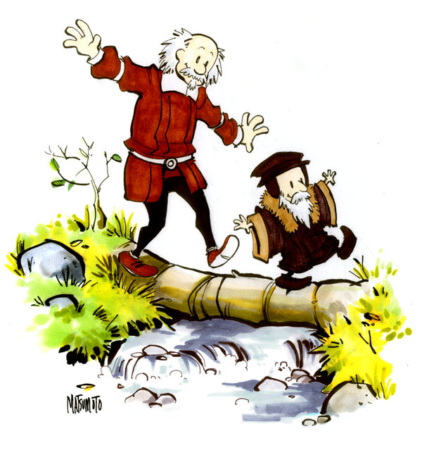John_Calvin_and_Thomas_Hobbes_by_spacecoyote