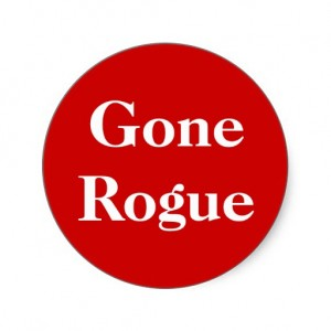 Gone rogue sticker