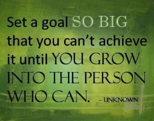 goal so big
