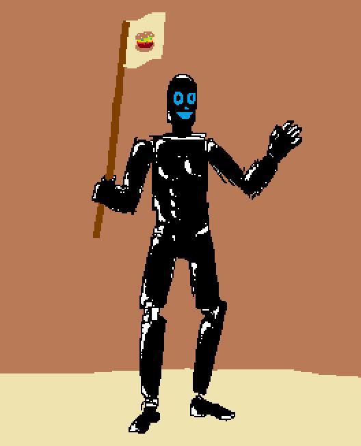Robot Crusader with Hamburger Flag (Copy).jpg