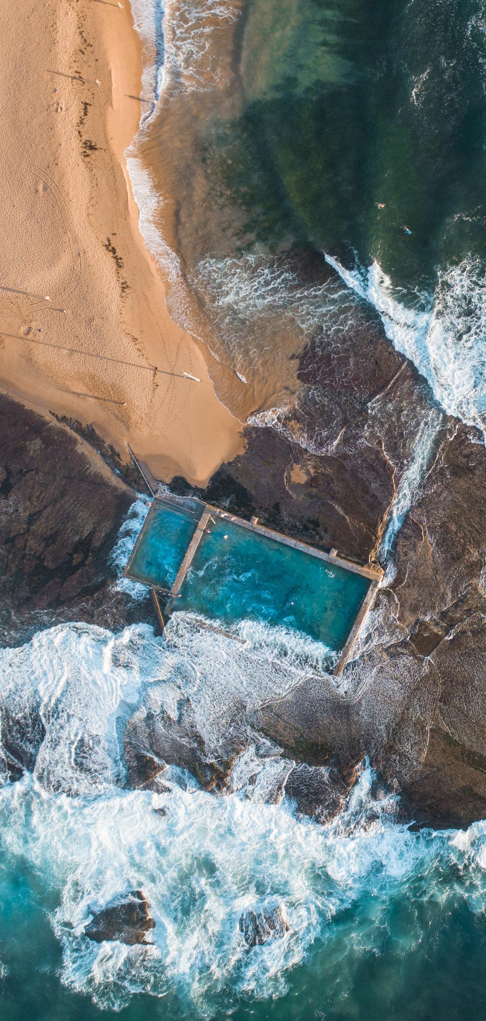 Mona Vale Beach Rock Pool, Sydney Australia