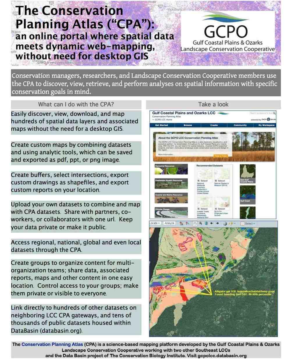 Conservation Planning Atlas factsheet