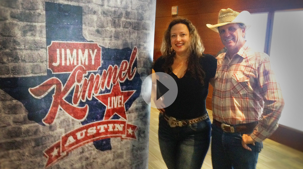 Dancin' Duo featured live at #SouthBySouthwest on the Jimmy Kimmel Live Show as announcer Dicky Barrett talked with Gumbo Ce Soir, who played for the crowd on Friday. #KimmelinAustin