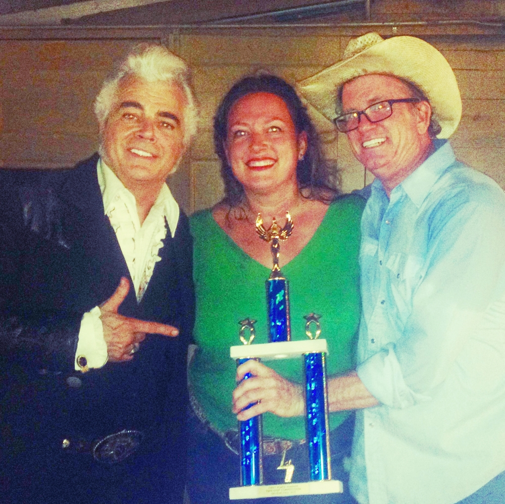 First Place Winners of the Invite Only Texas Two-Step Competition at the legendary Gruene Hall in Gruene, Texas while filming ABC's Bachelorette Season 11, airing May 2015.