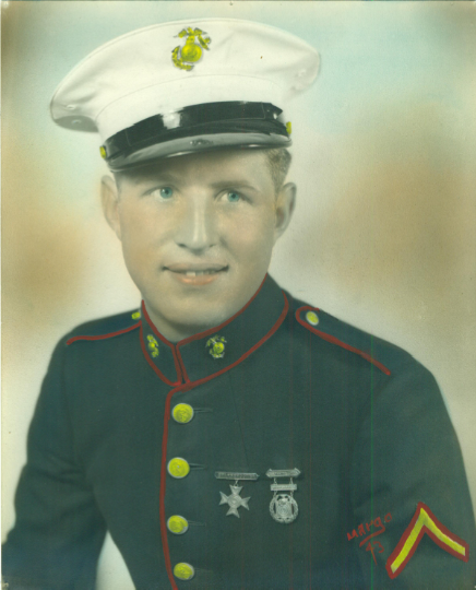 My grandfather, Charlie Sawyer. 4th Marines, 24th Div.