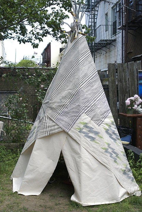 outside , 2011  teepee by Shannon Duvall
