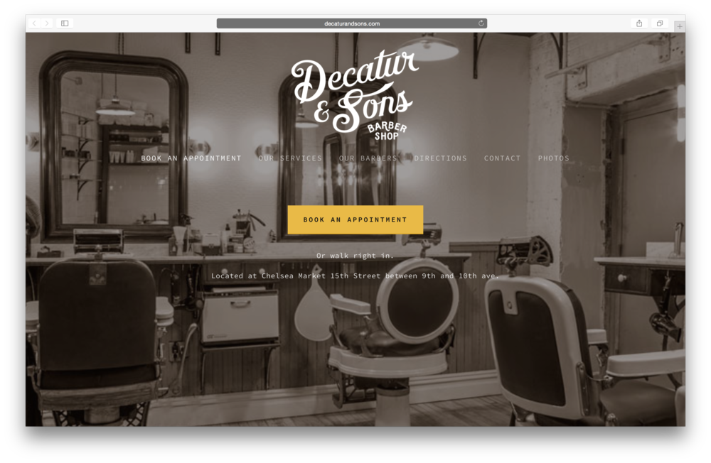 + Decatur & Sons | previous co-owner, responsible for brand identity, marketing strategies, daily operations