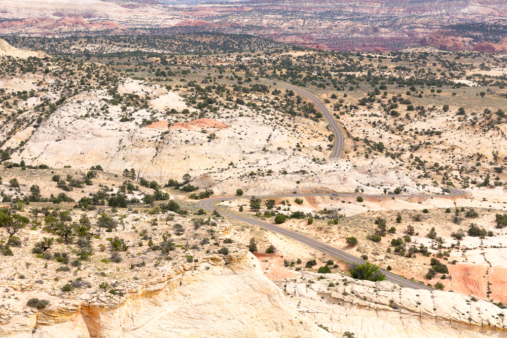 UT-12 Winding Across The Escalante Canyons