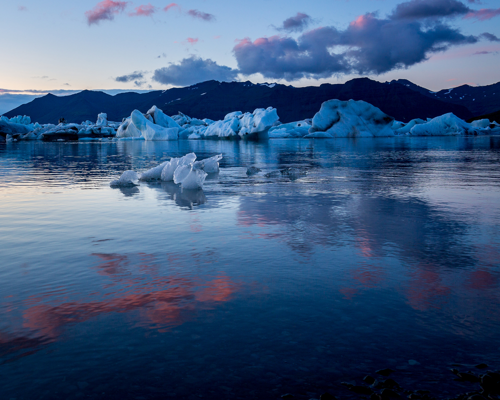 Jökulsárlón - glacial lagoon in Iceland.