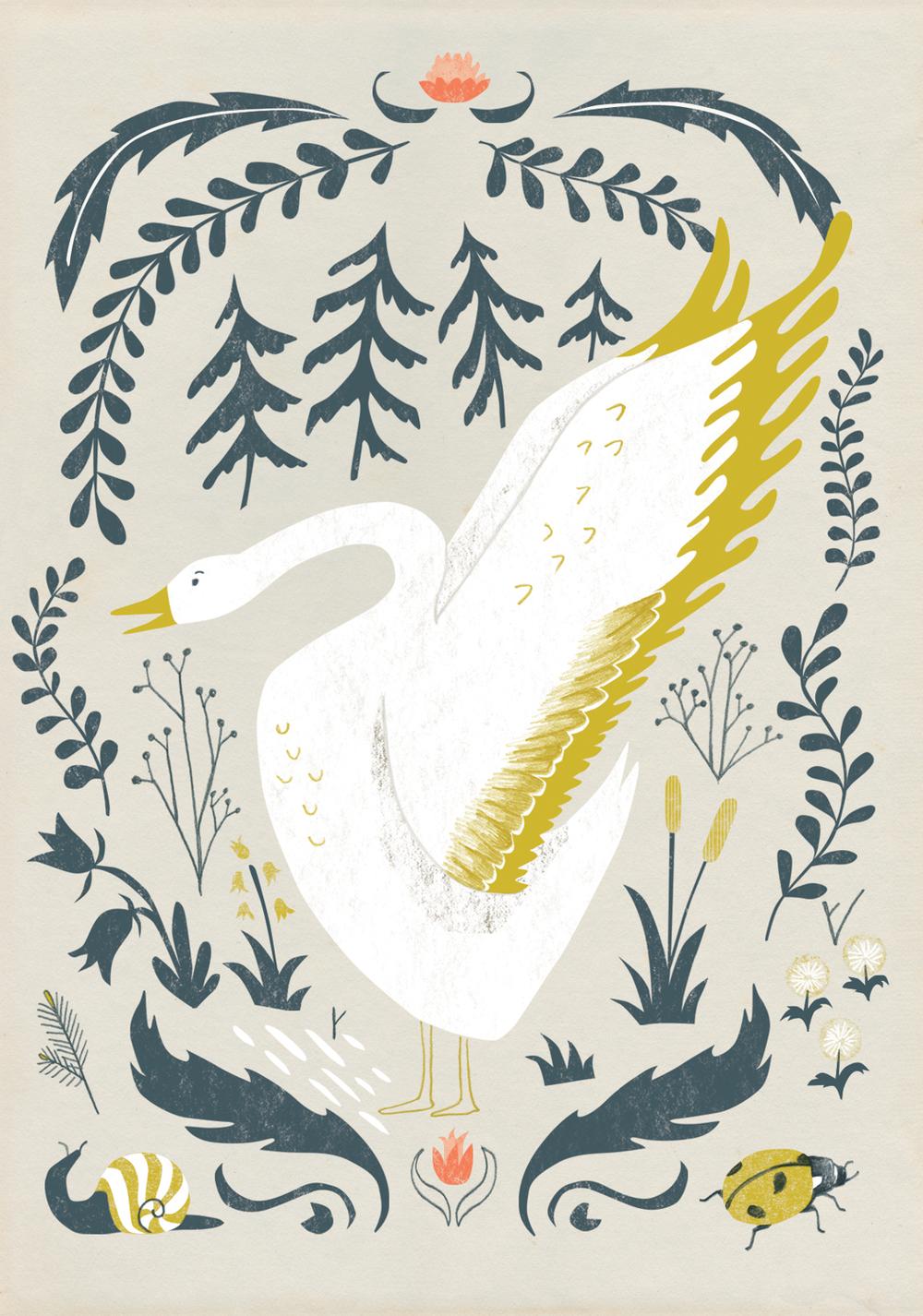 #AA_AK0002 Botanical Goose
