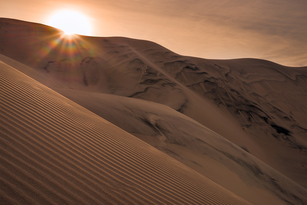Eureka Dunes, about twenty minutes after sunrise.