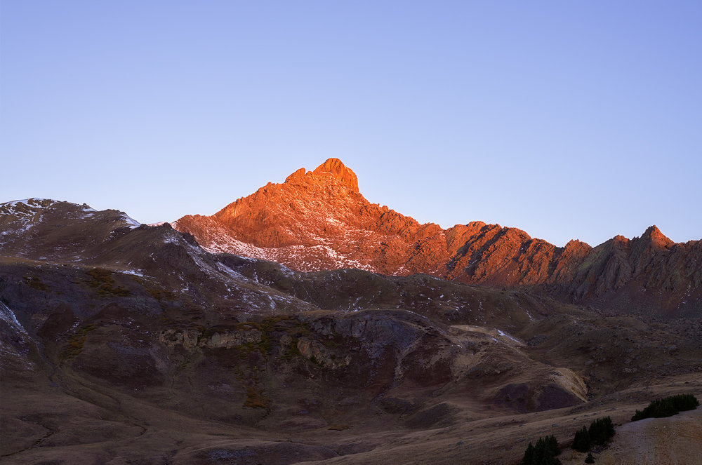 Sunrise at Wetterhorn Peak.