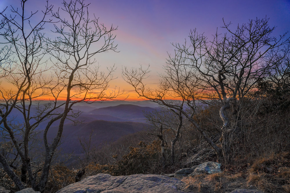 Blood Mountain at sunset.