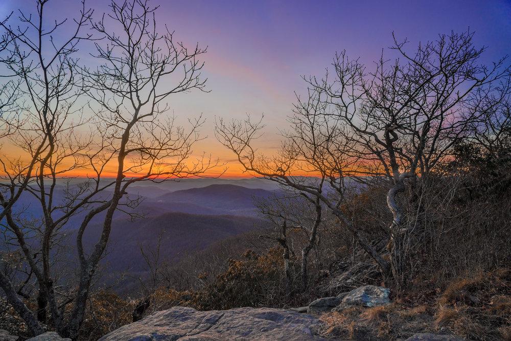 Blood Mountain at sunset.