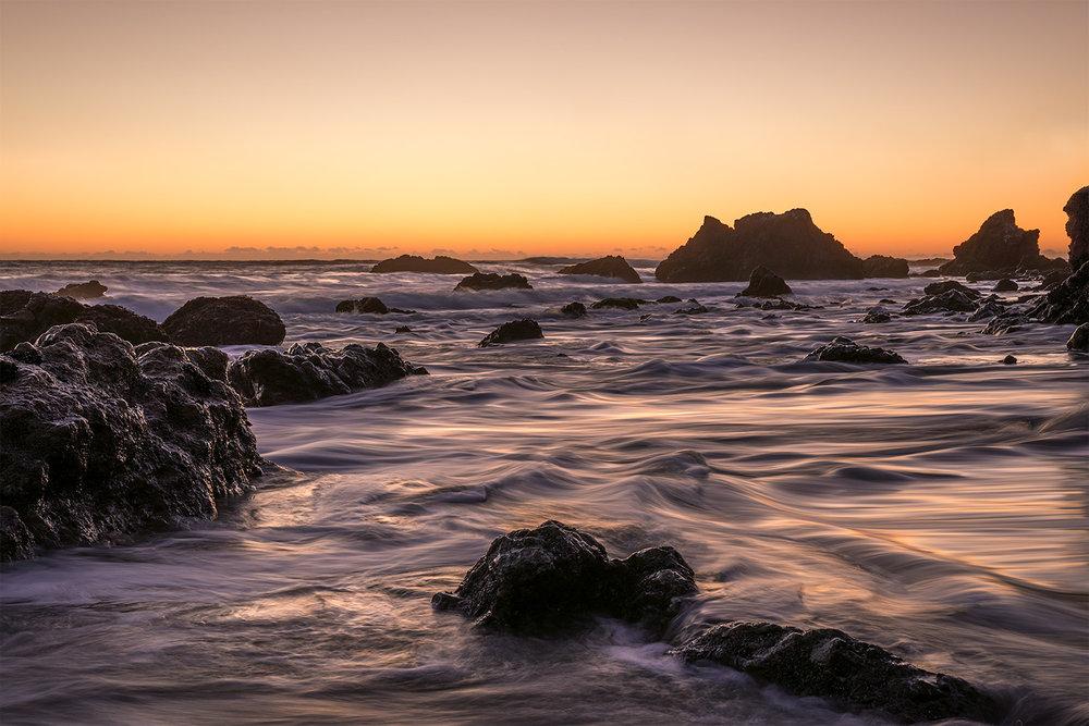 El Matador Waves -Liquid purple waves at El Matador State Beach, in Malibu.