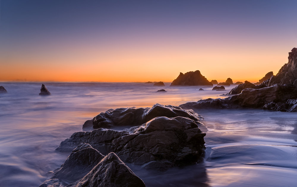 El Matador State Beach at sunset.