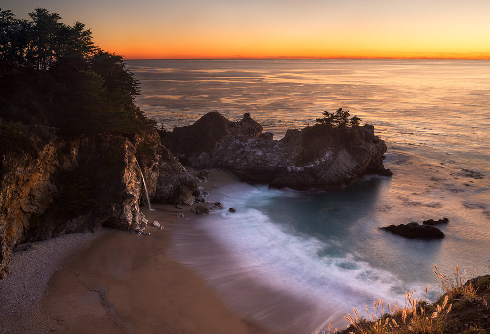 Sunset at McWay Falls, Julia Pfeiffer Burns State Park