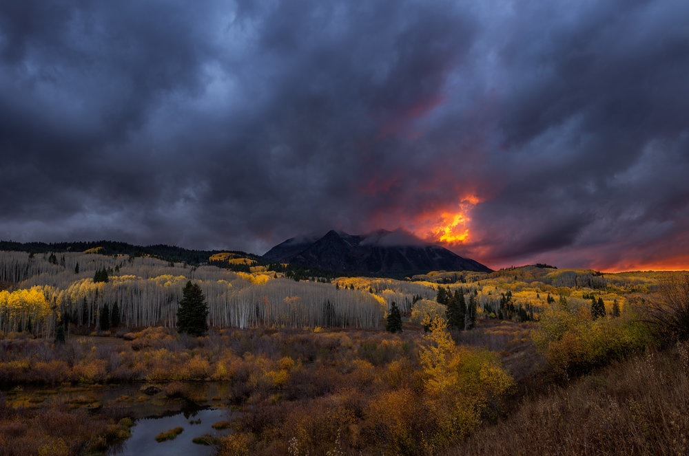Sunset at East Beckwith Mountain, near Crested Butte, CO.