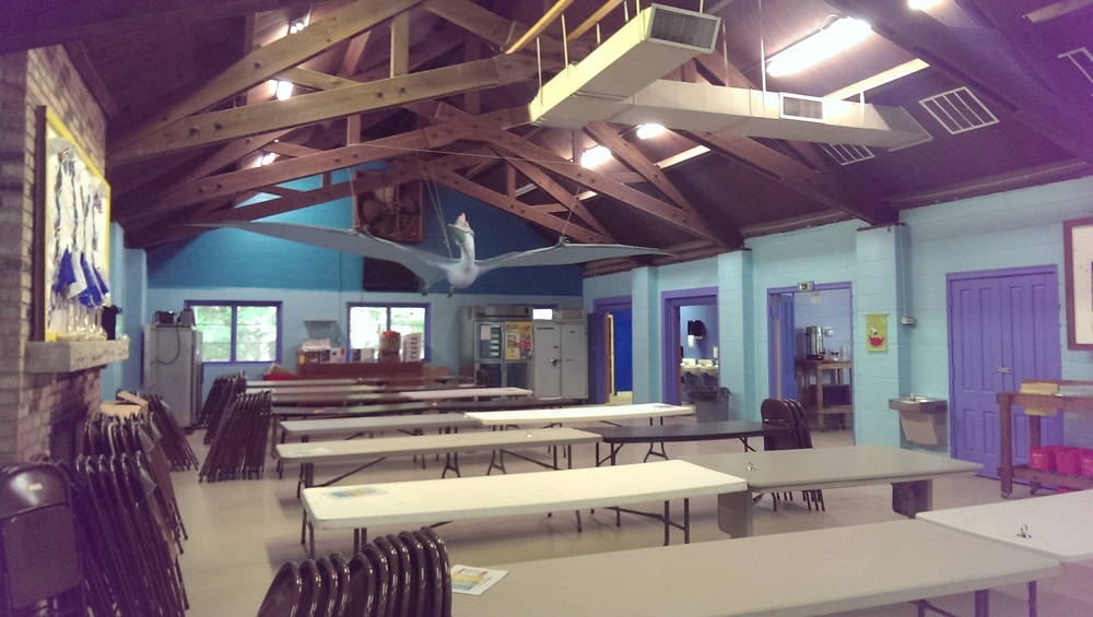 The Dining Hall at Camp.