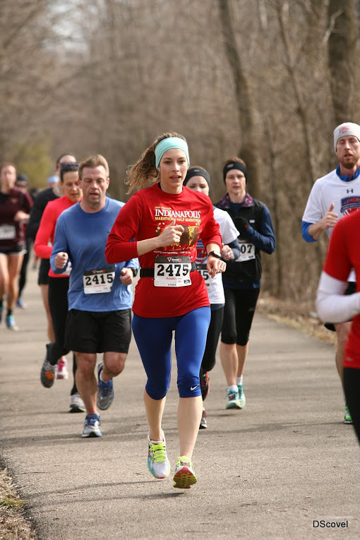 My most recent race, back in February in Zionsville, IN - The Groundhog 7 Miler