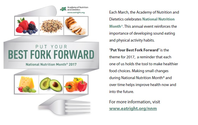 March Has Arrive And That Means It Is National Nutrition Month This The Where All Of Us In Dietetics Field Celebrate Eating Healthy