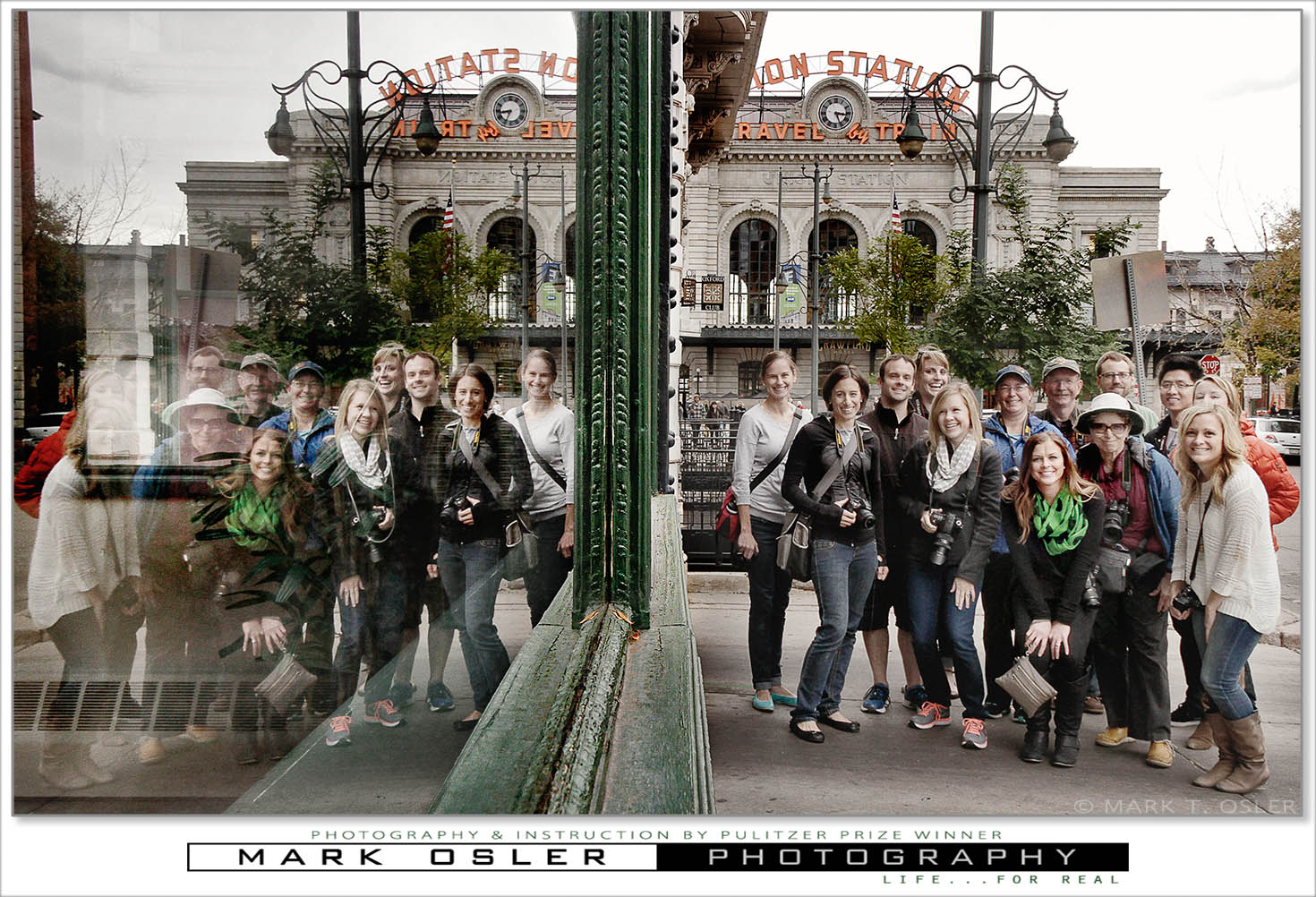 Students for Mark Osler's class on photo composition held Nov. 2, 2014 at Union Station in Denver, Colorado. (©Mark T. Osler. ALL RIGHTS RESERVED.)