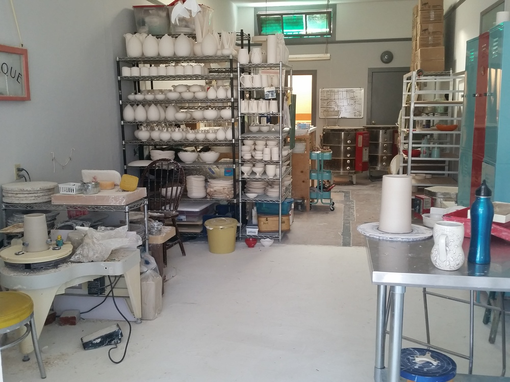 My sister's ceramic studio.
