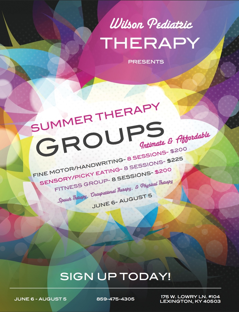 Click the image above to view our full summer group info packet!