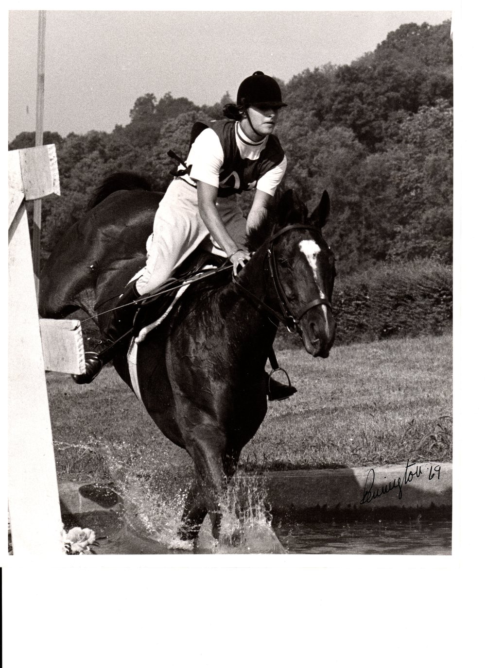 "on General Burton's horse, Bold Lur, ""A"" National Pony Club Rally, Nashville, TN, 1969"