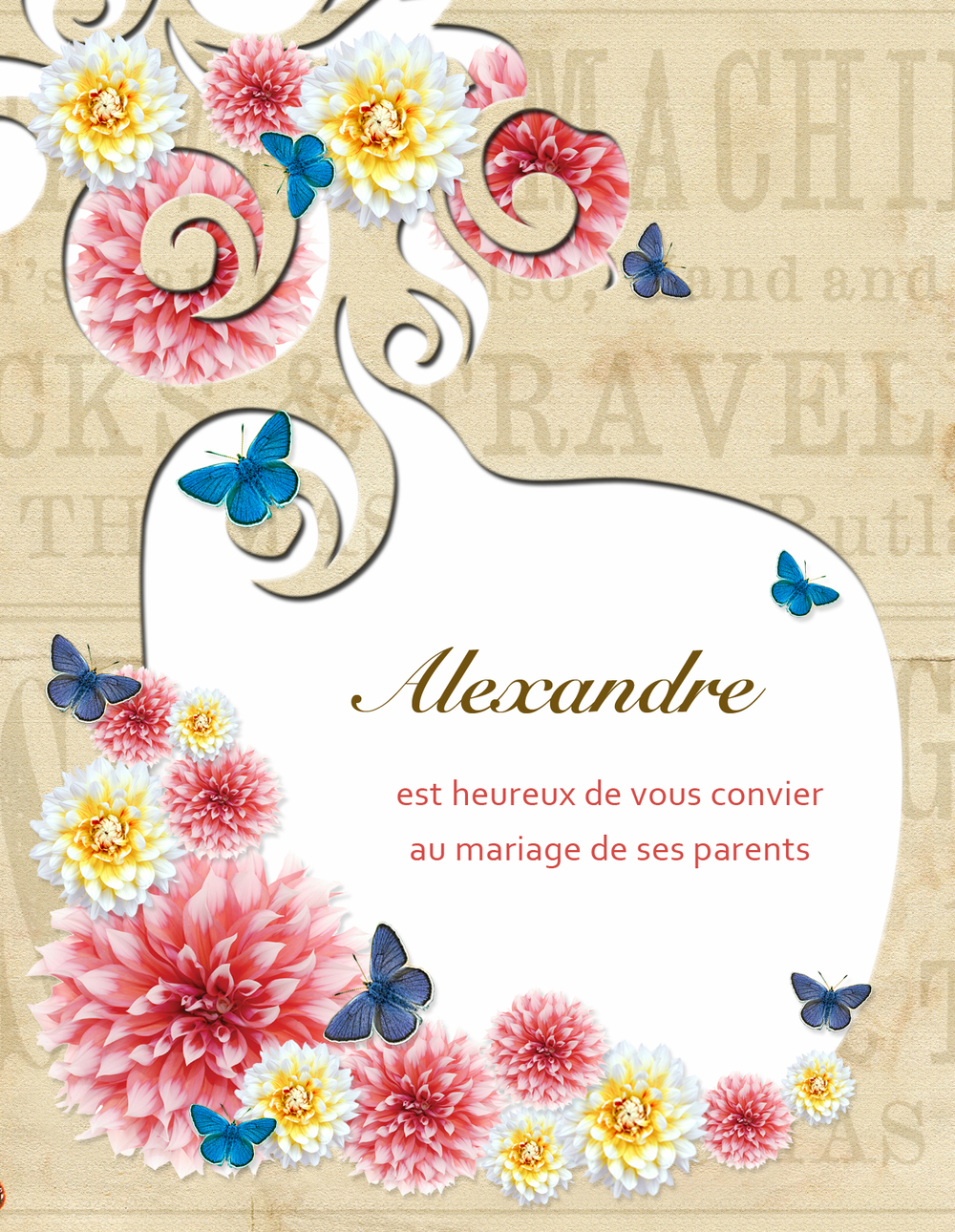 Front design of card.