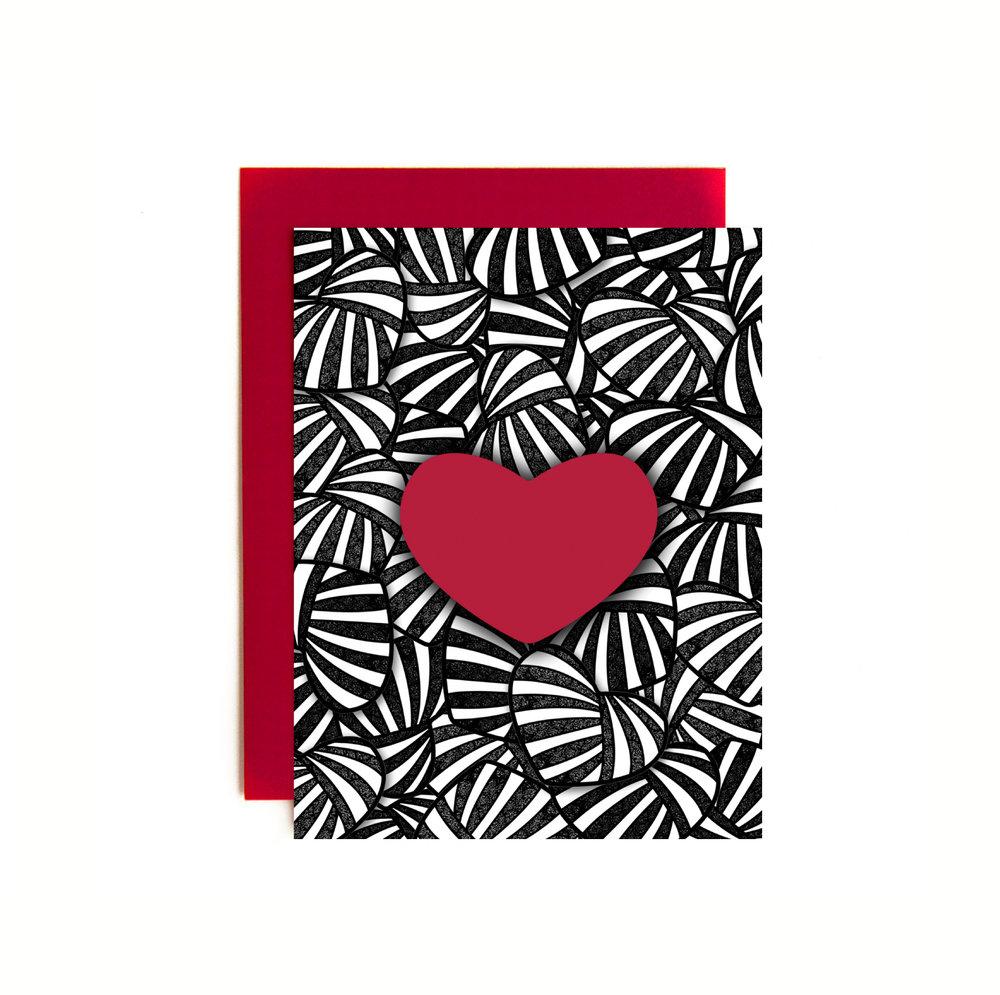 STRIPE HEARTS ITEM NO. NC4617