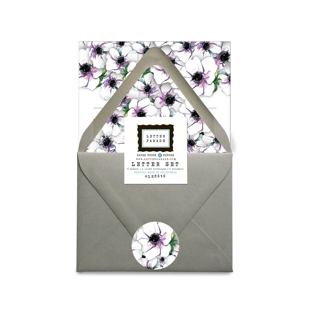 ANEMONE LETTER SET ITEM NO. LS8636 PRE-ORDER TO SHIP IN SEPTEMBER 2017