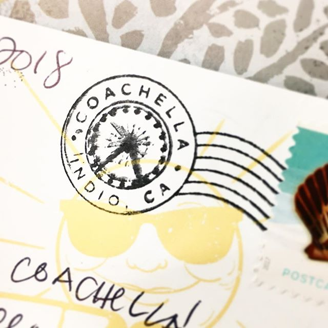 Not only does #Coachella have their own #postoffice they also have their very own official #postmark it's details like these that tugs at my #stationery lover's heart ❤️ what's your favorite postmark?